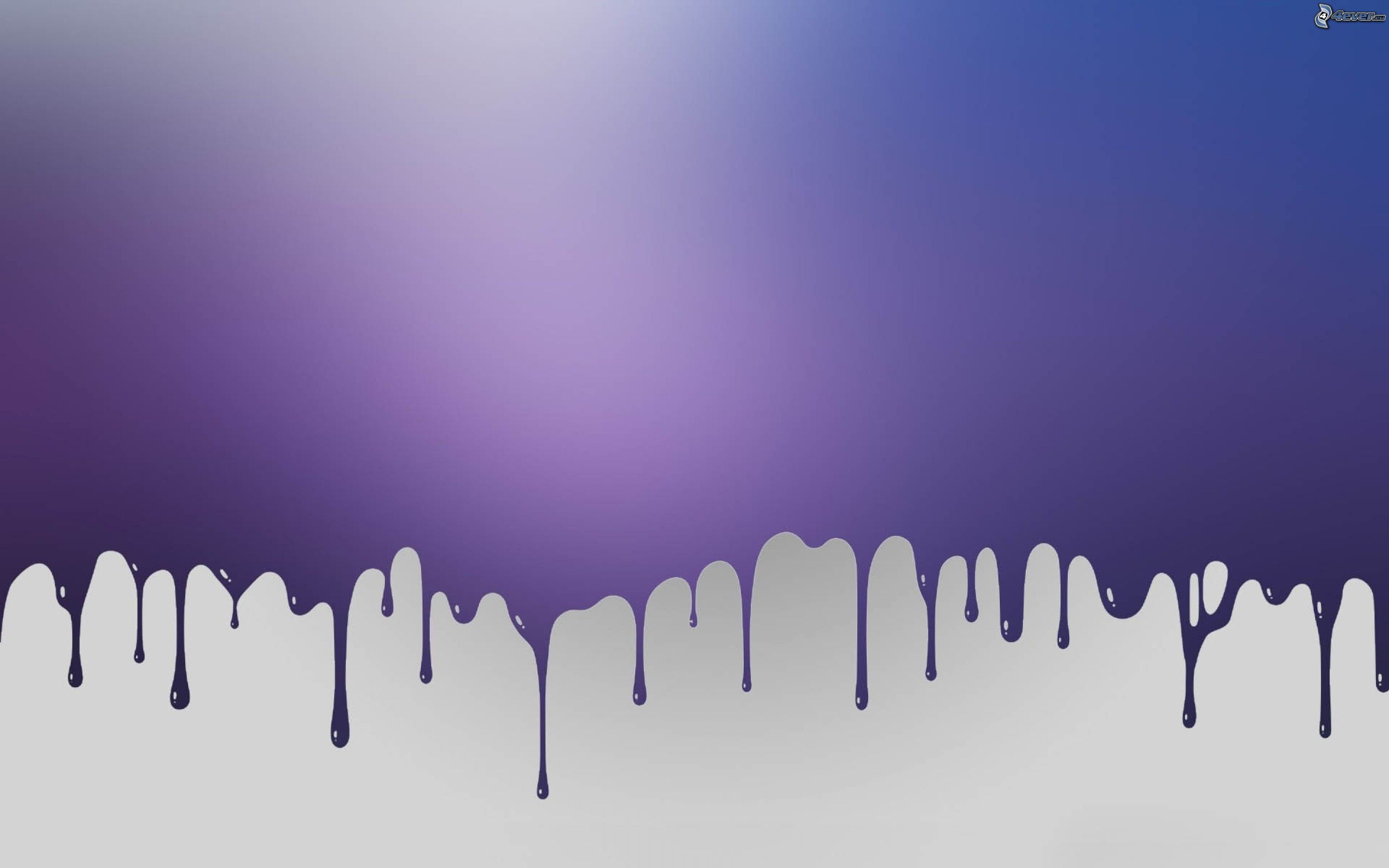 Dripping Paint Wall Design : Purple background