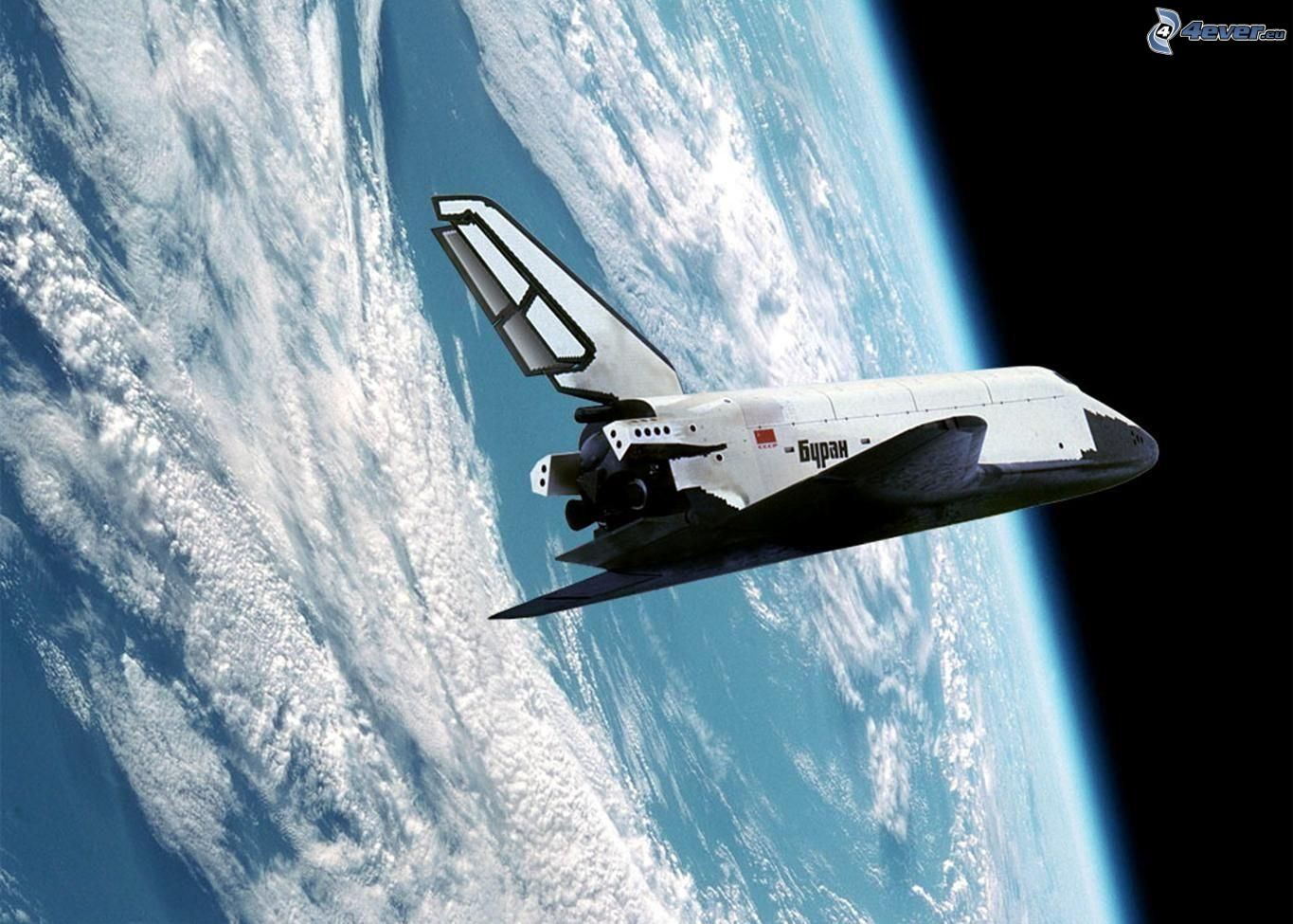 high res nasa space shuttle in orbit - photo #39