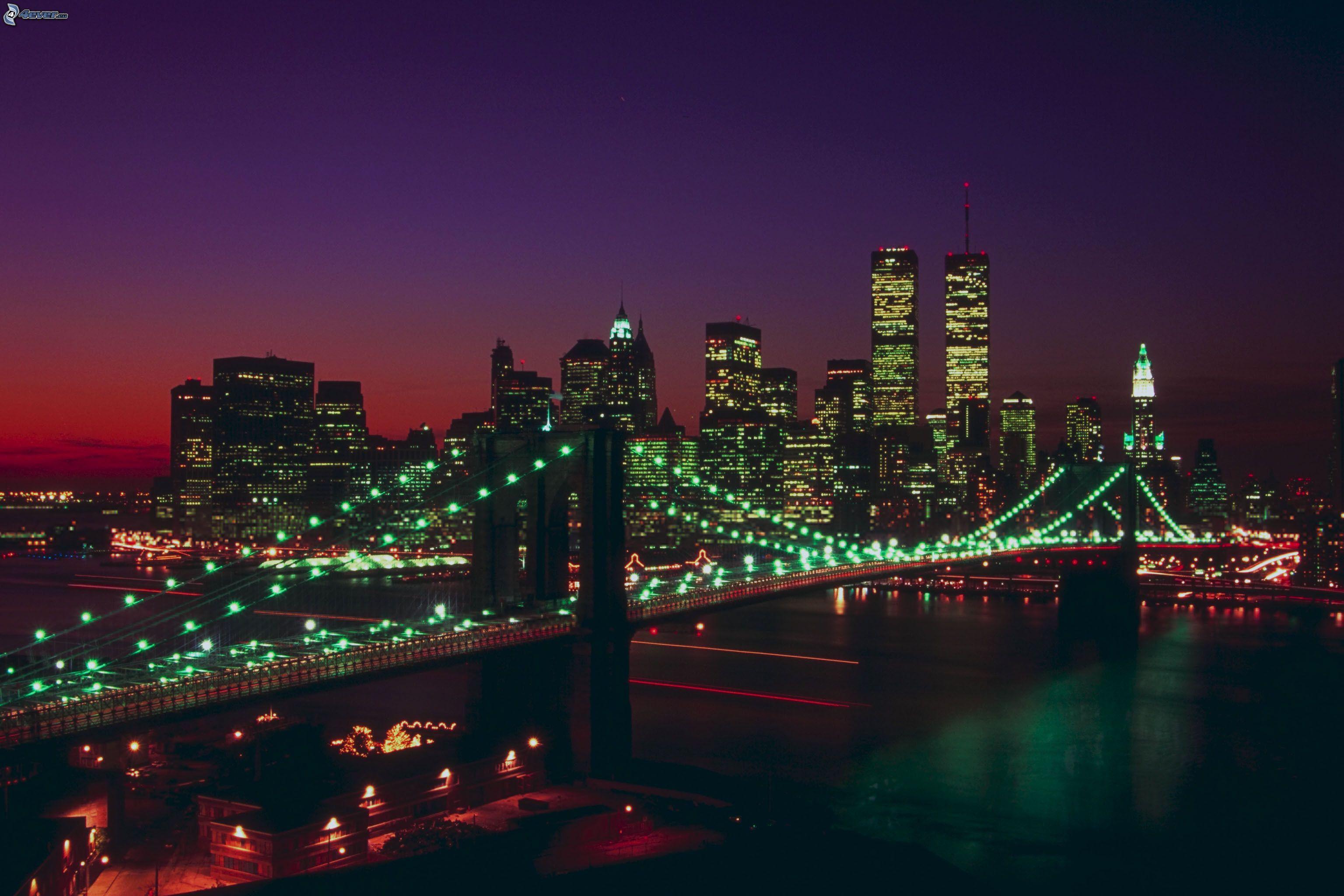 EL MUNDO EN TODO SU ESPLENDOR - Página 8 Brooklyn-bridge,-manhattan,-new-york,-night-city,-lighted-bridge-206751