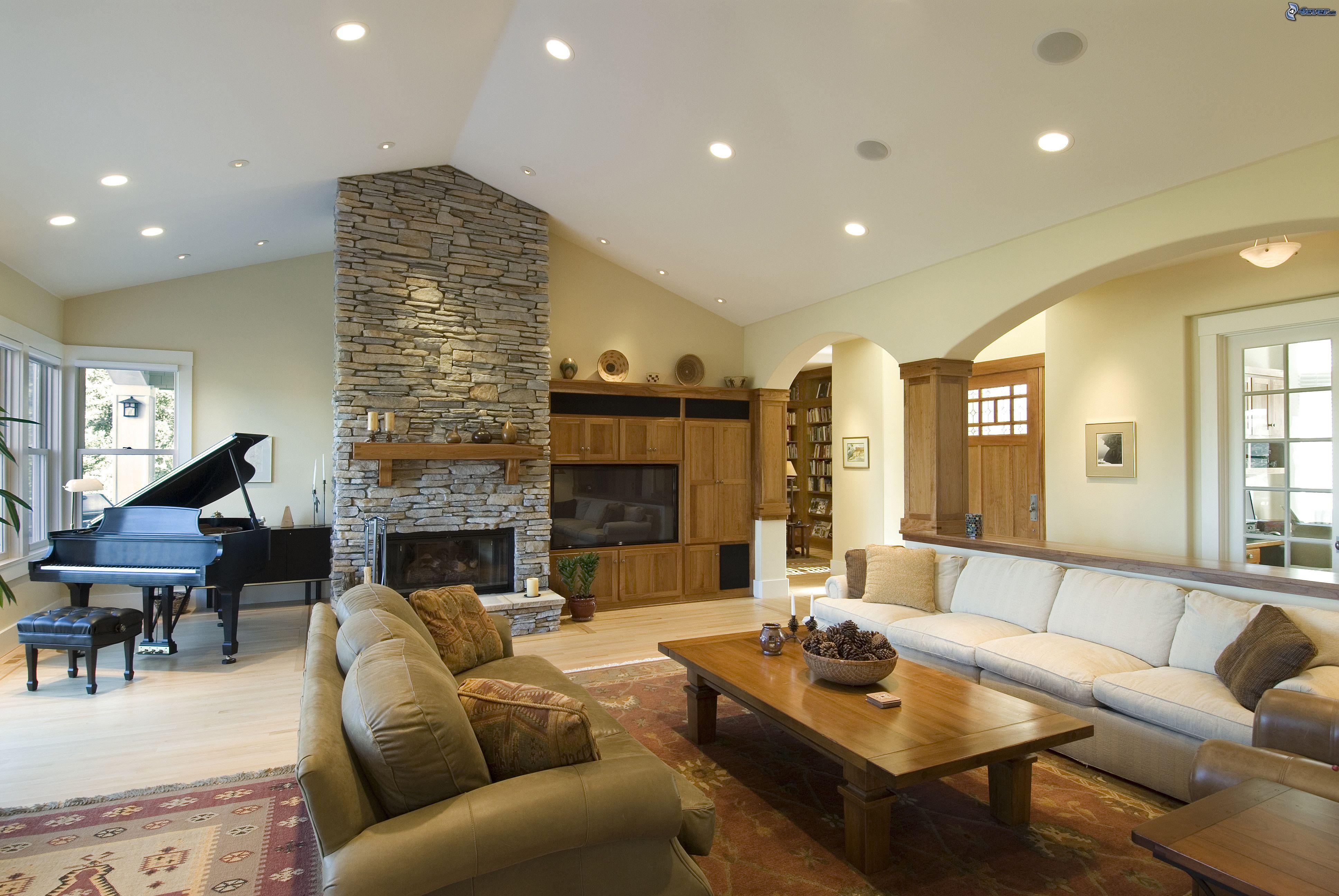 Ремонт гостиной с камином своими руками фото