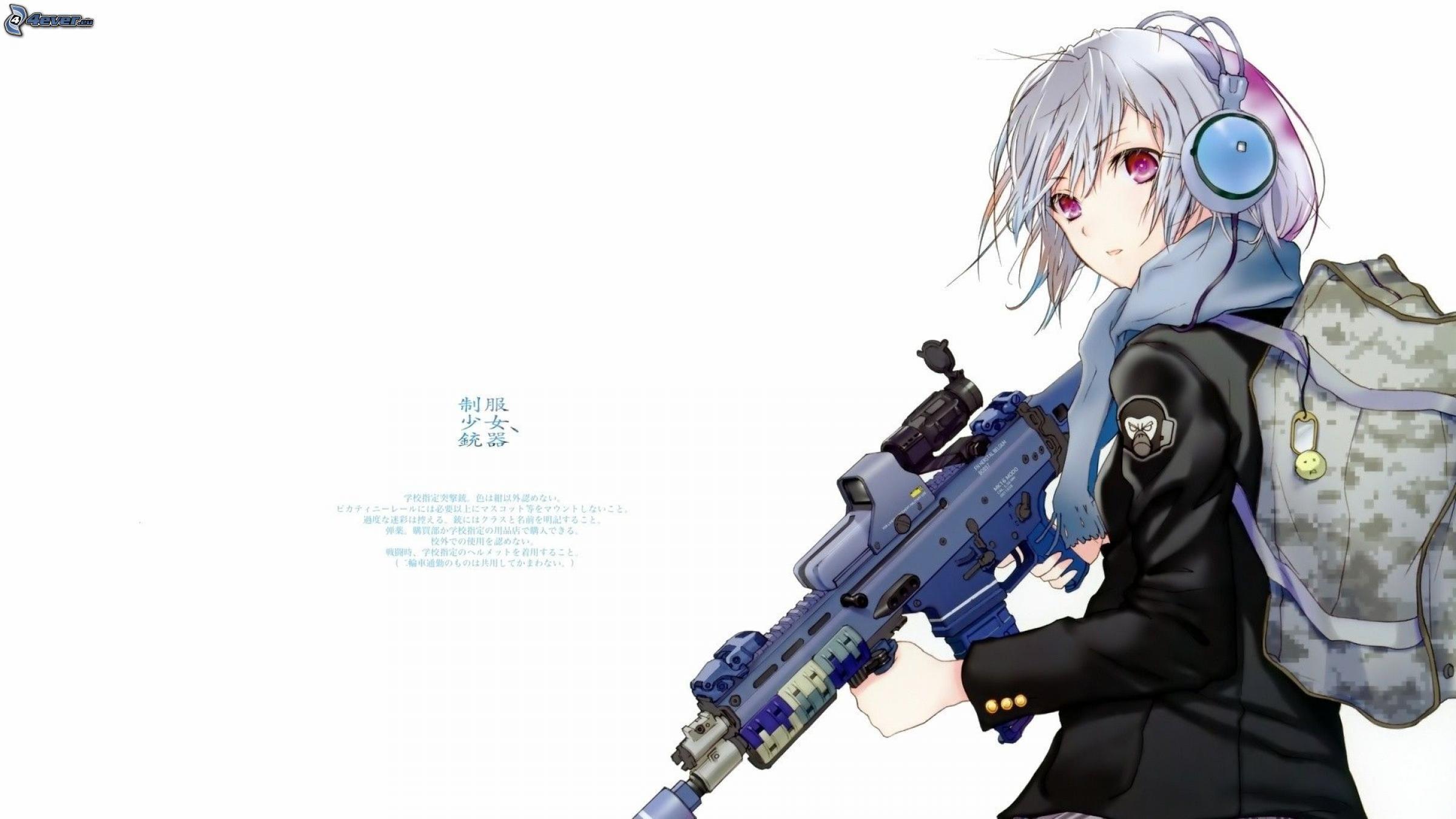 Anime girl - Anime girl with weapon ...