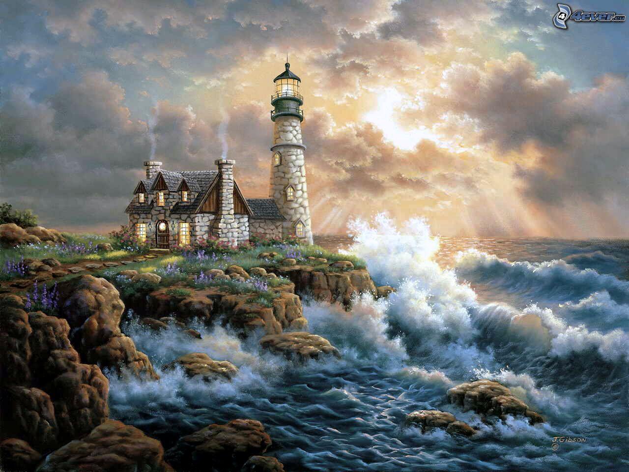 hd wallpaper stormy sea