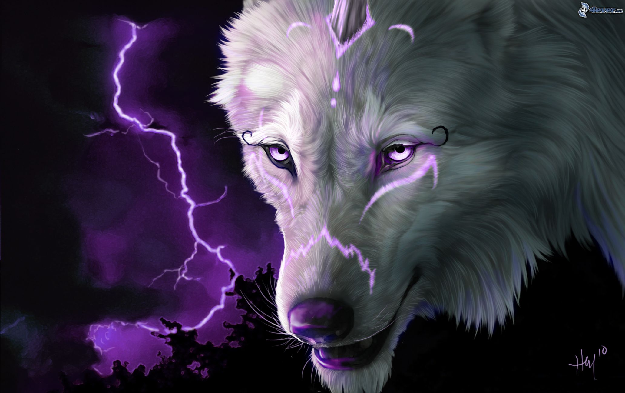 wolves and lightning wallpapers - photo #5