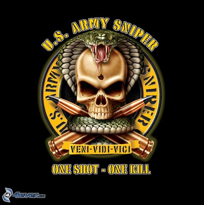 Army Sniper Logo Wallpaper – images free download