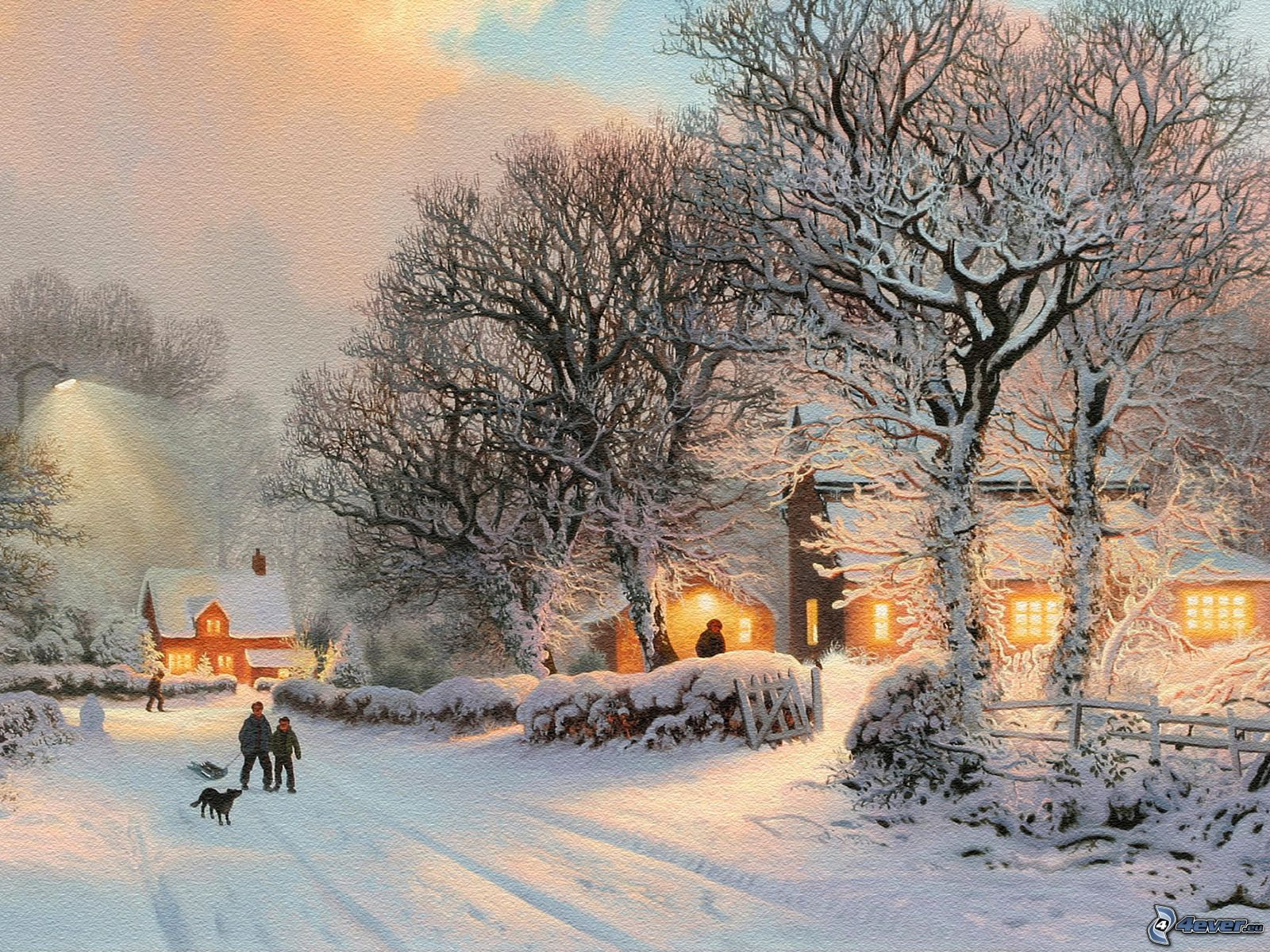 snowy english village wallpaper - photo #24