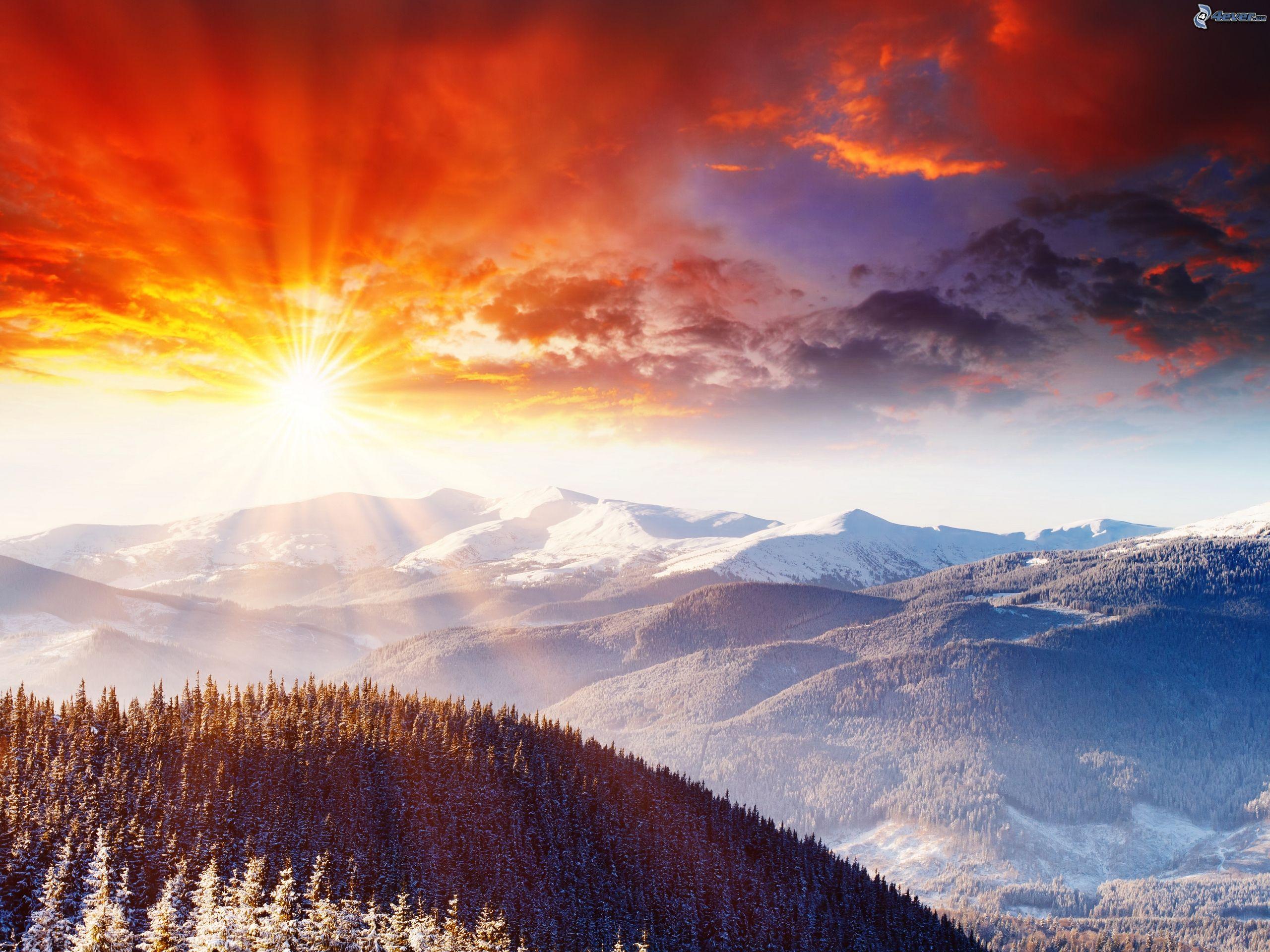 عکس غروب کوهستان