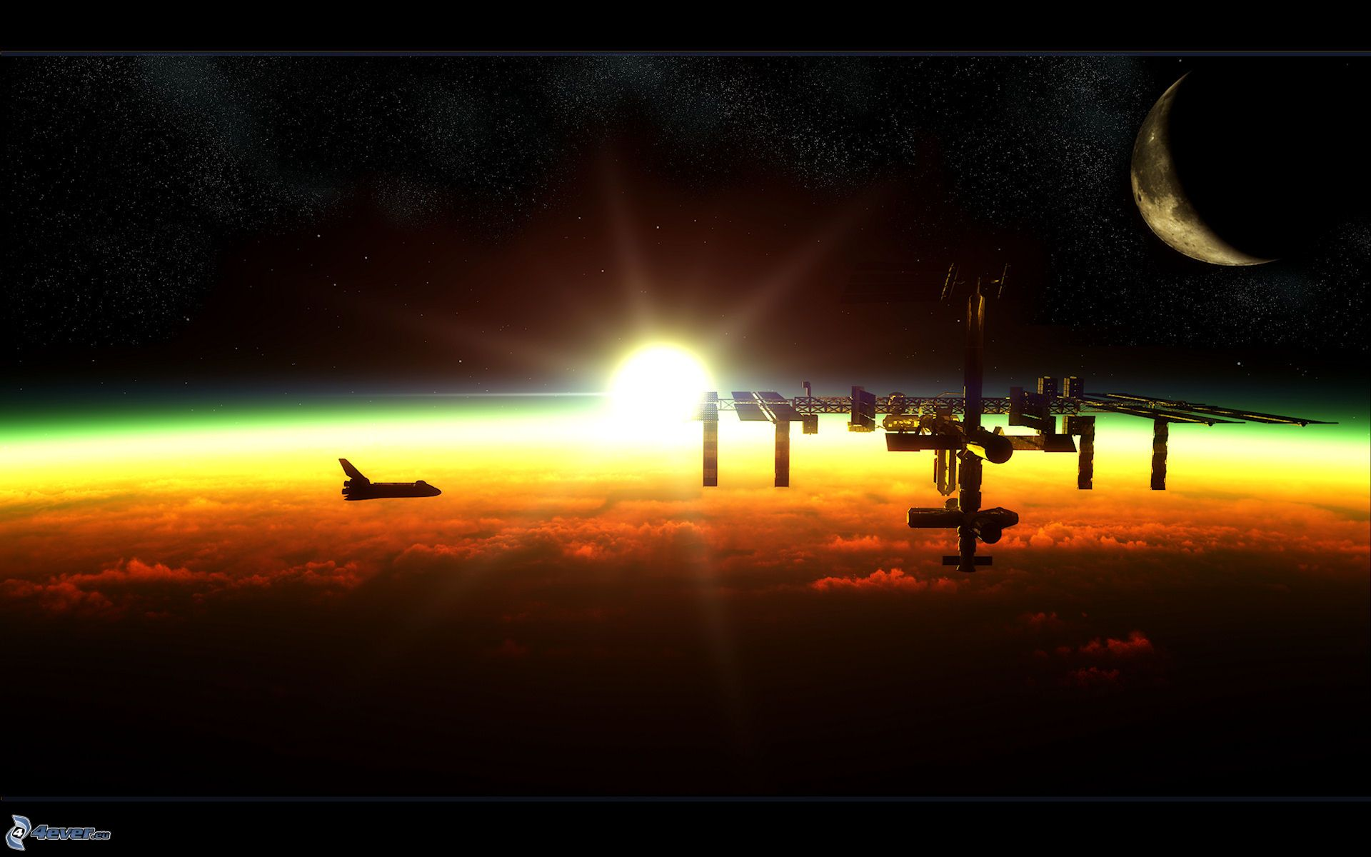 space station sunrise wallpaper - photo #9